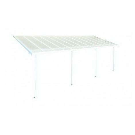 Toit Terrasse FERIA PATIO COVER 3X7 - Blanc (aluminium & polycarbonate)