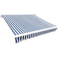 Toit d'auvent Toile Bleu et blanc 6x3 m (Cadre non inclus)