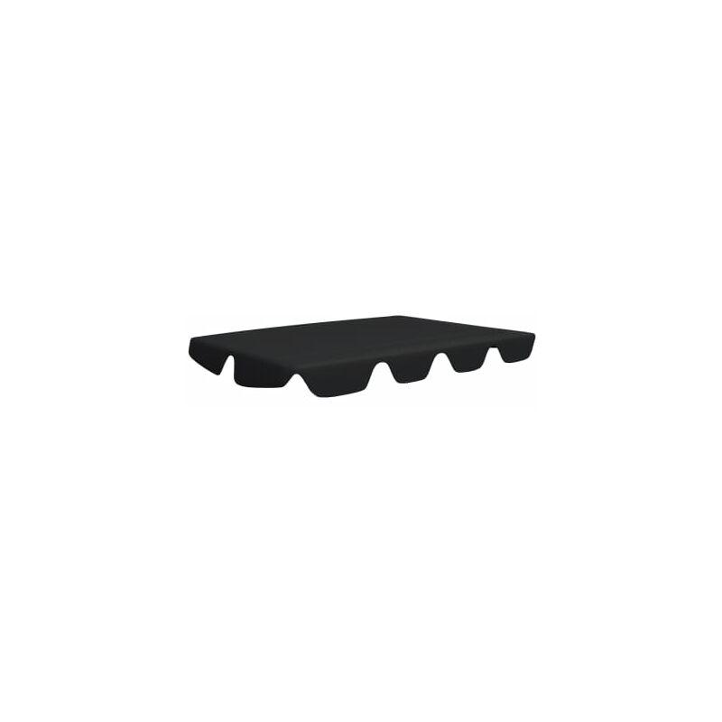 Toit de rechange de balancoire Noir 150/130x70/105 cm