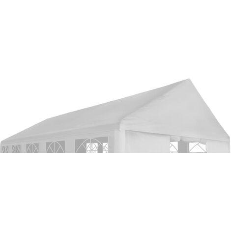 Toit de tente de réception 4 x 8 m Blanc