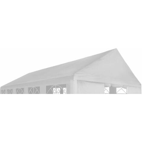 Toit de tente de réception 6 x 12 m Blanc