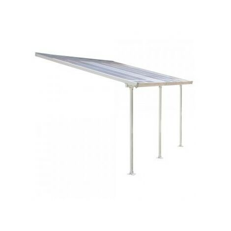 Toit terrasse blanc avancée 3m - 12,5m2