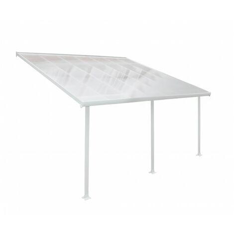 Toit terrasse blanc avancée 4m - DE 16,4 m² A 39,8 m²