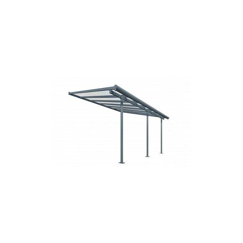 Palram - Toit Terrasse SIERRA PATIO COVER 3x4 - Gris (Aluminium & Polycarbonate)