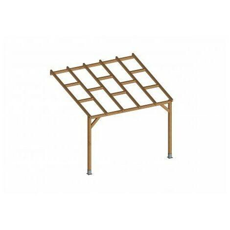Toit Terrasse en bois 3x3 m - Sans toit polycarbonate