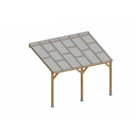 Toit Terrasse En Bois 3x3 7 M Avec Toit Polycarbonate 05