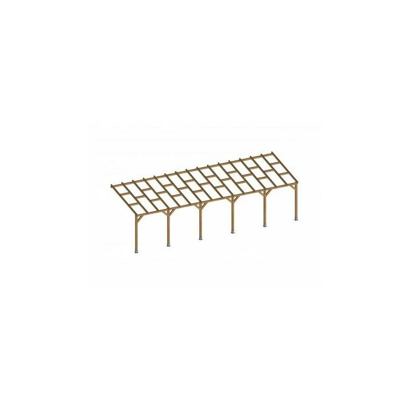 Toit Couv'Terrasse® en bois 3x9,2 m - Sans toit polycarbonate