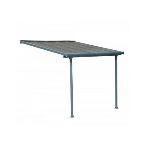 Toit Terrasse FERIA PATIO COVER 3X3 - Gris 7016 (aluminium & polycarbonate)