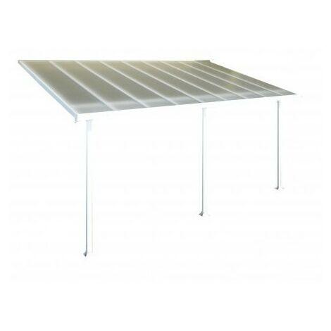 Toit Terrasse FERIA PATIO COVER 3X5 - Blanc (aluminium & polycarbonate)