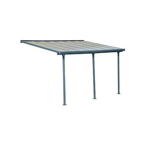 Toit Terrasse FERIA PATIO COVER 3X5 - Gris (aluminium & polycarbonate)