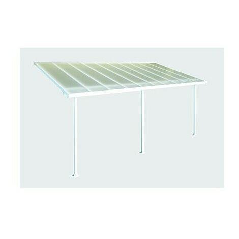 Toit Terrasse FERIA PATIO COVER 3X6 - Blanc (aluminium & polycarbonate)