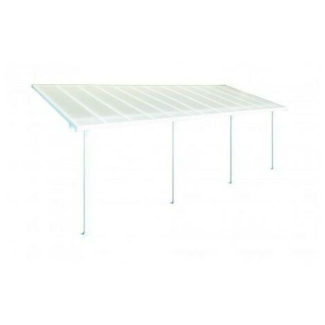 Toit Terrasse FERIA PATIO COVER 3X7 - Blanc (aluminium & polycarbonate) - Blanc
