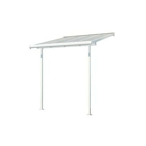Toit Terrasse SIERRA 240 - Blanc (aluminium & polycarbonate)