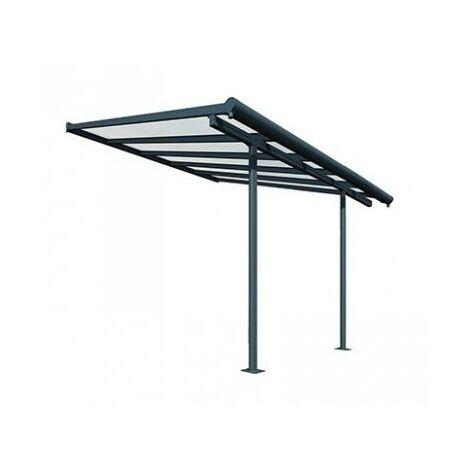 Toit Terrasse SIERRA PATIO COVER 3x3 - Gris (aluminium & polycarbonate)
