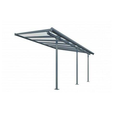 Toit Terrasse SIERRA PATIO COVER 3x4 - Gris (Aluminium & Polycarbonate)