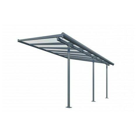 Toit Terrasse SIERRA PATIO COVER 3x4 -Gris (aluminium & polycarbonate)