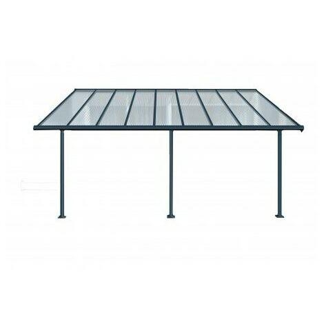 Toit Terrasse SIERRA PATIO COVER 3x5 - Gris (aluminium & polycarbonate)