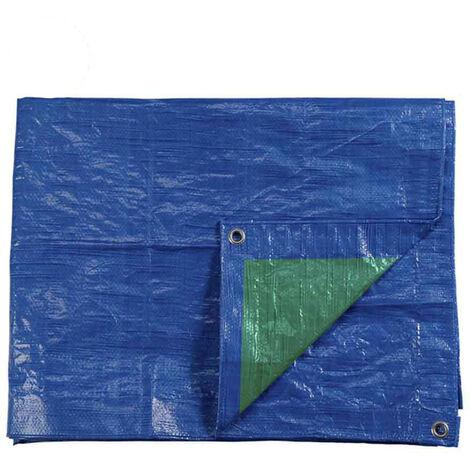 Toldo 4X6Mts Doble Cara Azul/Verde Ojetes De Metal Densidad 90Grs/M2 - NEOFERR