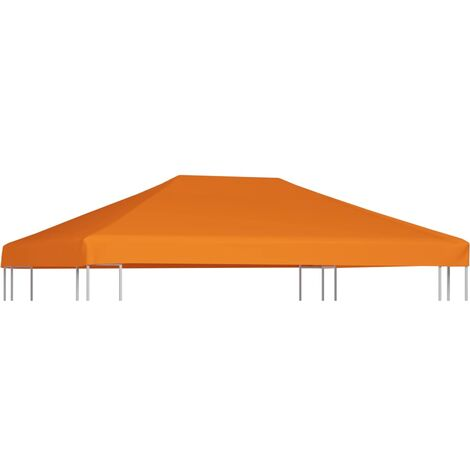 Toldo de cenador 310 g/m² 4x3 m naranja