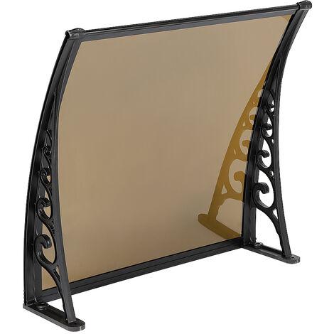 Toldo de la puerta del toldo Policarbonato marrón 60X100 CM