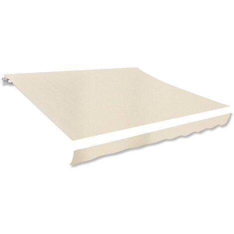vidaXL Toldo de Lona Crema 350x250 cm - Crema