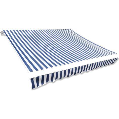 Toldo de lona azul y blanco 350x250 cm