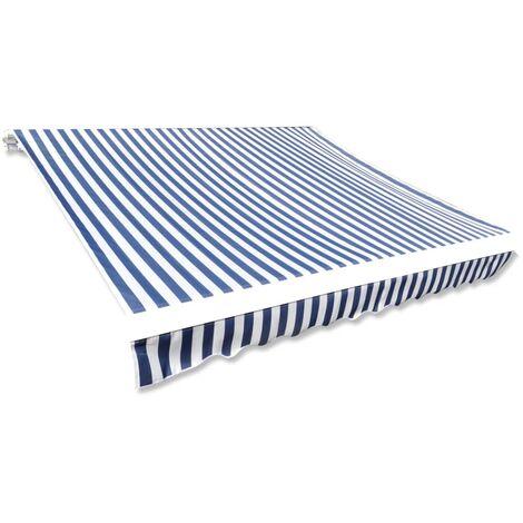 Toldo de lona azul y blanco 450x300 cm