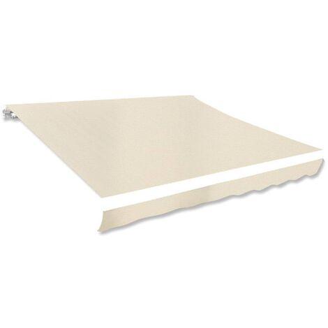 Toldo de lona color crema 3x2,5 m sin armazón