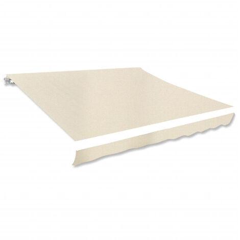Toldo de lona color crema 3x2,5 m sin armazon-Solo lienzo, sin marco (no se puede enviar a Baleares)