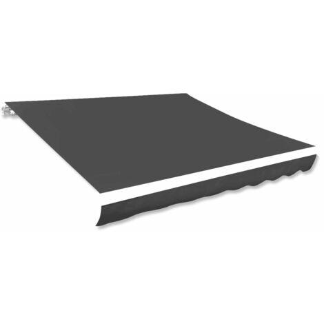 Toldo de lona gris antracita 400x300 cm