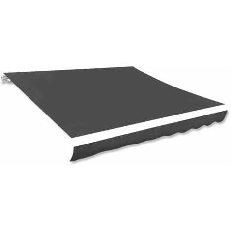 Toldo de lona gris antracita 500x300 cm