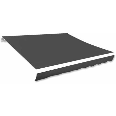 Toldo de lona gris antracita 600x300 cm