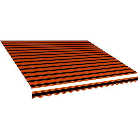 Toldo de lona naranja y marrón 400x300 cm
