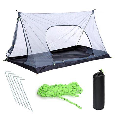 Toldo de malla de mosquitera ligera para 2 personas para acampar al aire libre Sasicare