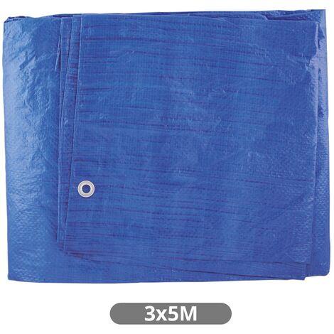 Toldo de Polietileno Azul 3x5M