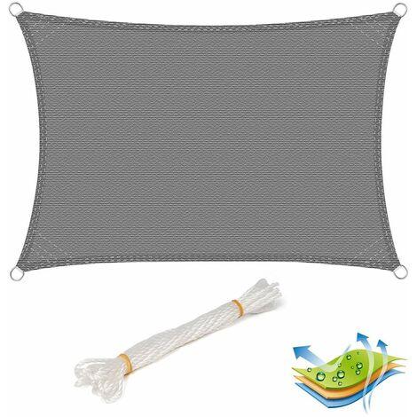 Toldo de protección solar UV de protección HDPE parabrisas gris 3x3m