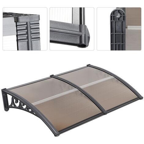 Toldo de puerta Toldo solar Toldo de entrada Toldo Protección de sombra 100 * 150cm Marrón