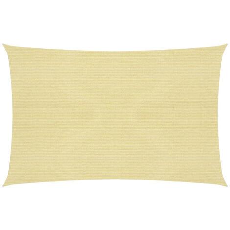 Toldo de vela beige HDPE 160 g/m2 2,5x3 m