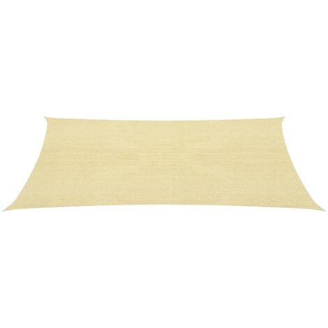 Toldo de vela cuadrado 3,6x3,6 m HDPE beige - Beige