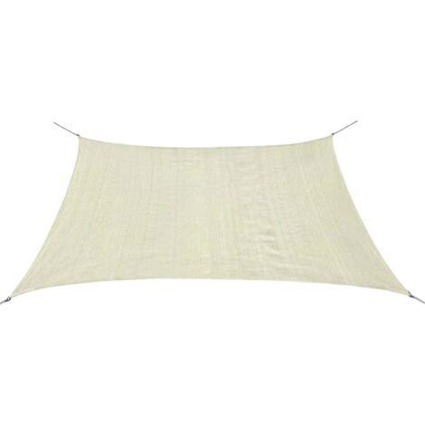 Toldo de vela cuadrado HDPE 2x2 m crema