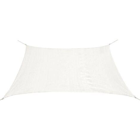 Toldo de vela rectangular HDPE 2x4 m blanco