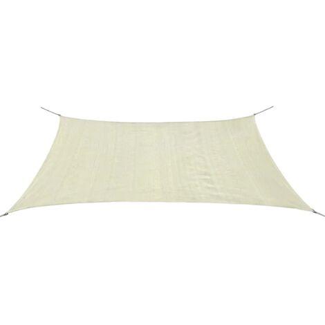 Toldo de vela rectangular HDPE 2x4m crema
