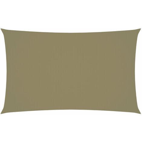 Toldo de vela rectangular tela oxford beige 3x6 m