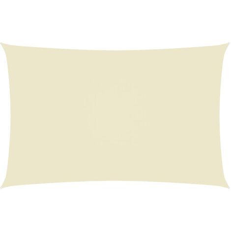 Toldo de vela rectangular tela oxford color crema 3x6 m