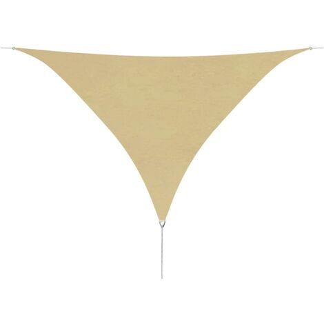Toldo de vela triangular de tela oxford 3,6x3,6x3,6 m beige
