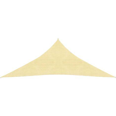 Toldo de vela triangular HDPE 5x5x5 m m beige