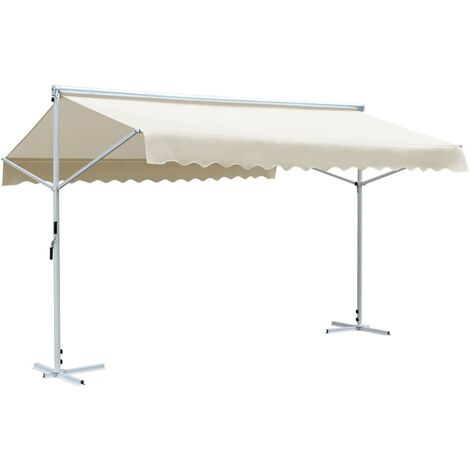 Toldo independiente 4x3 m color crema