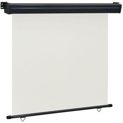 Toldo lateral de balcon color crema 160x250 cm