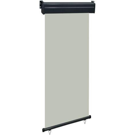 Toldo lateral de balcón gris 80x250 cm