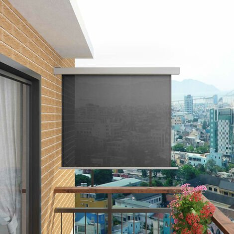 Toldo lateral de balcón multifuncional 150x200 cm gris